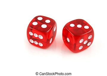 Seven the easy way - 2 Dice close up- Seven the easy way