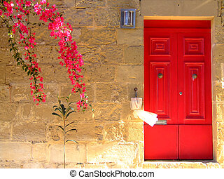 Mediterranean Home - Typical limestone Mediterranean house...