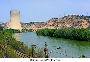 Nuclear power plant - Ascó ®µclear power plant over the...