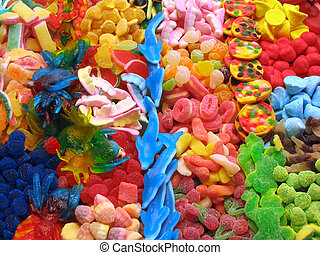 Candy background - Assorted colorful candies background