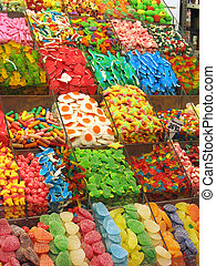 Candy shop - Assorted colorful candies at the candy shop