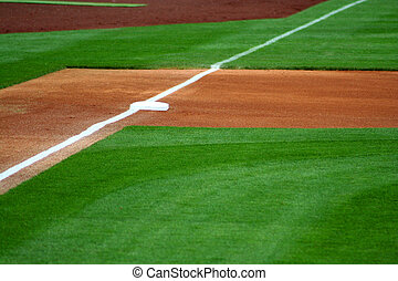 Third Base - an image of third base on a baseball field