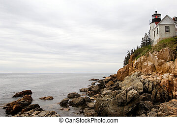 Bass Harbor lighthouse - Famous lighthouse in Acadia...