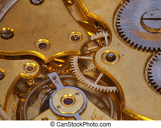 Inside a watch - Clockwork of an antique pocket watch