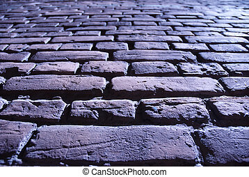 bricks - special toned photo fx, focus point on second...