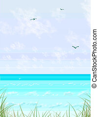 Sea Grass Memory - A design of mine with sea grass, beach,...
