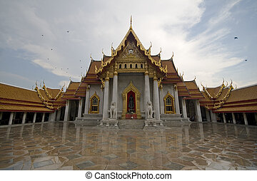 Marble temple (Wat Benchamabophit) in Bangkok, Thailand