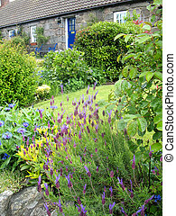 Cottage Country Garden - An old stone cottage and beautiful...