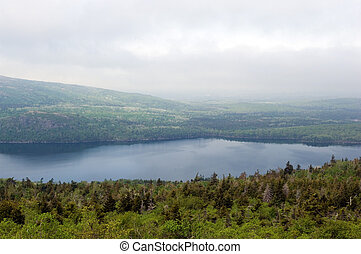 Acadia national park - Lake from Cadillac mountain in Acadia...