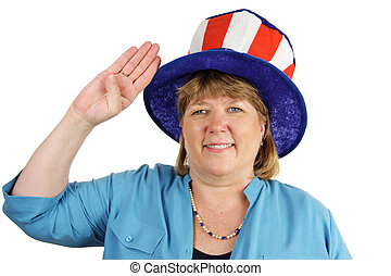 Military Wife Salutes - Wife of a US military serviceman...