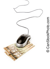 online shopping - computer mouse and canadian dollar, online...