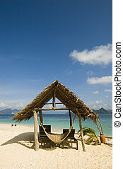 Beach Hut - Beach hut in resort, Palawan, Philippines