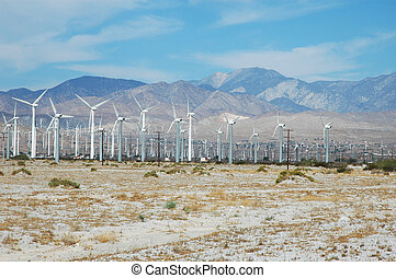 California Windfarm - A windfarm just outside of Palm...