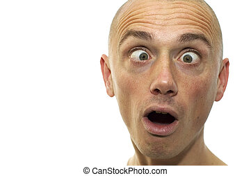 Looking Funny - This man looks funny and cross-eyed. It\\\'s...