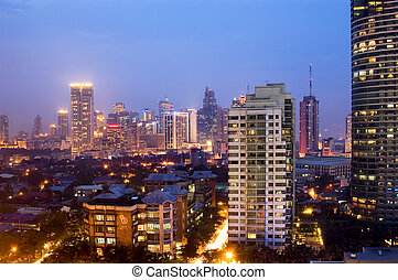 Business District - Buildings in Makati, Philippines