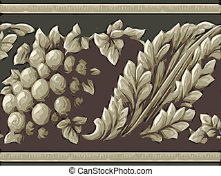 Abstract ornamental flora