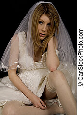 Unhappy bride - An unhappy bride - jilted?