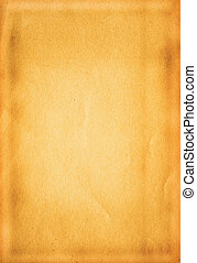 paper background - close-up of old yellowed sheet of paper