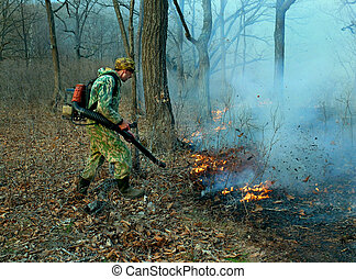 Suppression of Forest Fire 2 - Suppression of forest fire by...