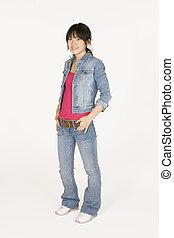 Asian - Model Release 302  Portrait of Asian teen