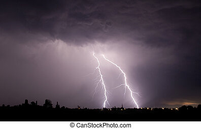 Lightning storm - this picture has taken in a big storm,...