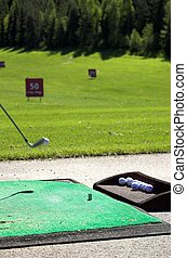 Golf Strike 1 - An airborne golf ball just being hit by the...