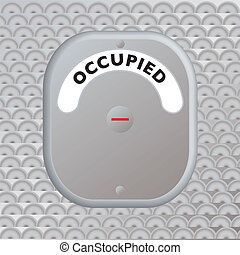 secure door occupied