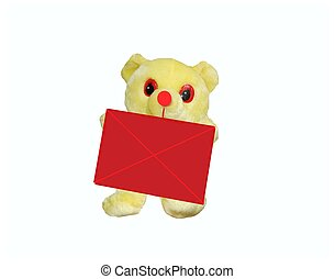 the red envelope - the teddy bear with red envelope