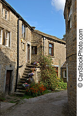 Lane in Grassington - Quiet country lane in Grassington,...