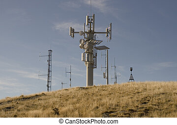 Cellphone Tower - Mobile Phone tower on top of a large hill