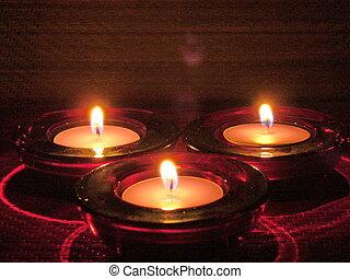 meditação, luz