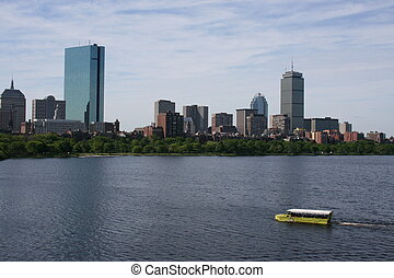 Boston - Duck Boat on the Charles River.