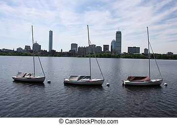 Boston - Sailboats on the Charles River.