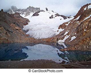 Glacier Sunrise - Sunrise on Glaciar de los Tres, Los...