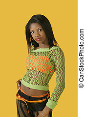 Glamour Modeling - Model Release 278 African American woman...