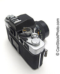 Old SLR Camera Isolated - An old slr camera isolated against...