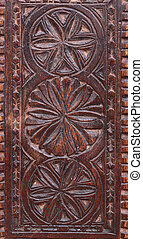 Wood box - Wooden ornated antique box hand made decoration
