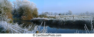 Winter Morning - the canal on a cold frosty winters morning