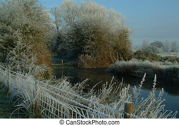 winter morning on the can - an early winters morning on the...