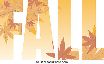 fall text - Fall text illustration that could be used as a...