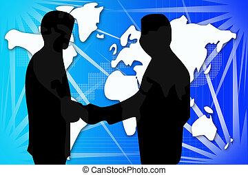 Peace agree - International agree illustration