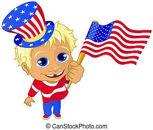 Little american boy