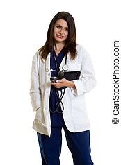 Medical doctor - Woman healthcare worker wearing a doctors...