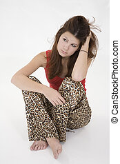 Teens - Model Release 362 Portrait of a depressed teenage...
