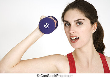 Fitness - Model Release 265 Young caucasian woman working...