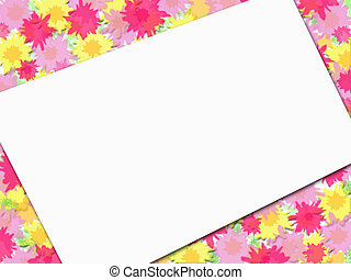 Flowery Frame Message - Impressionist style frame with blank...