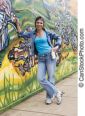 Brazil - Model Release 373 Beautiful Brazilian girl spray...