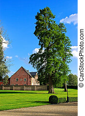 Country house - A rural summer scene in belgium with country...