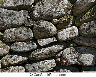 Wall with Old Pebbles 3 - A close-up of the wall of very old...