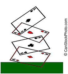 Aces high - Four aces, hearts, spades, diamonds and clubs,...